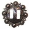Western Conchos, Old Silver Berry Slotted, 1.5""
