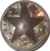 Western Conchos, Rusted star, 1.5""