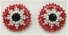 Earrings, Native American Indian, beaded