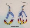 Earrings, Native American Indian, beaded, #9