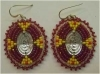 Native American Earrings, beaded