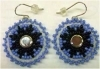 Earrings, Native American Indian, beaded, #6