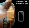 Leather cell phone case for saddles